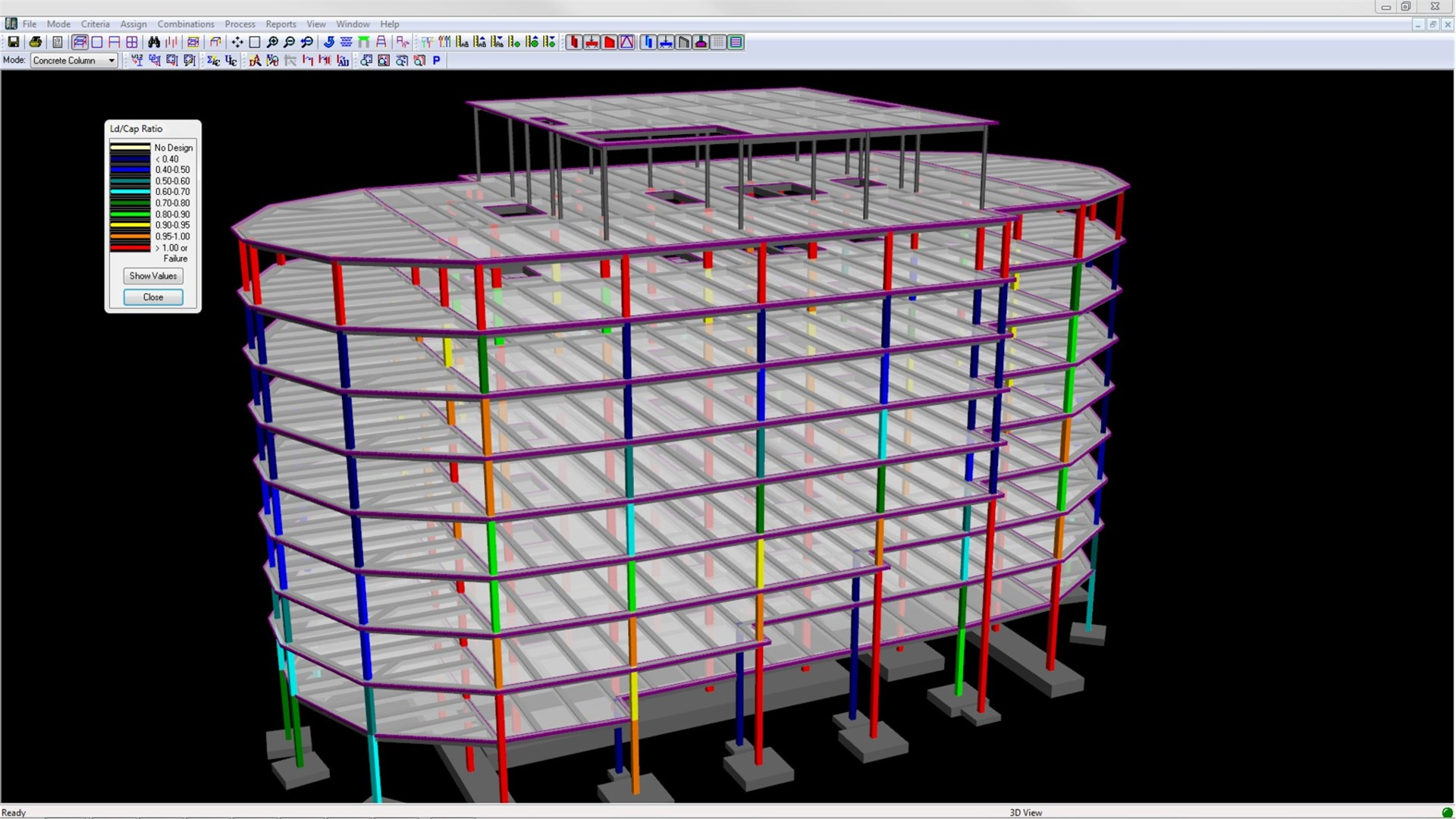 Design and analyze structural models_RFRAME_RSTEEL_RCONCRETE_RFDN_RSS_SE