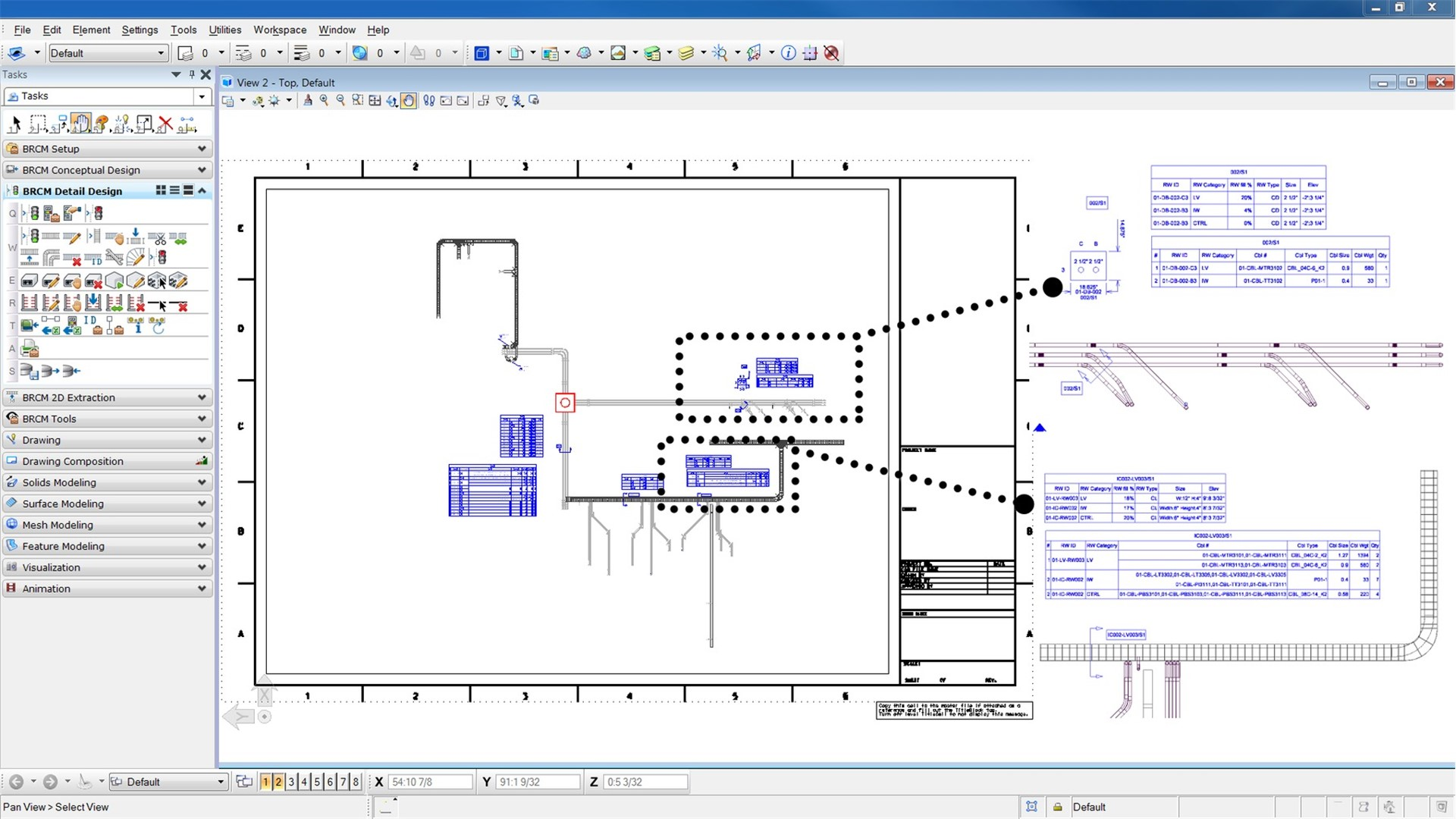 Generate cable and raceway construction drawings_EDITED