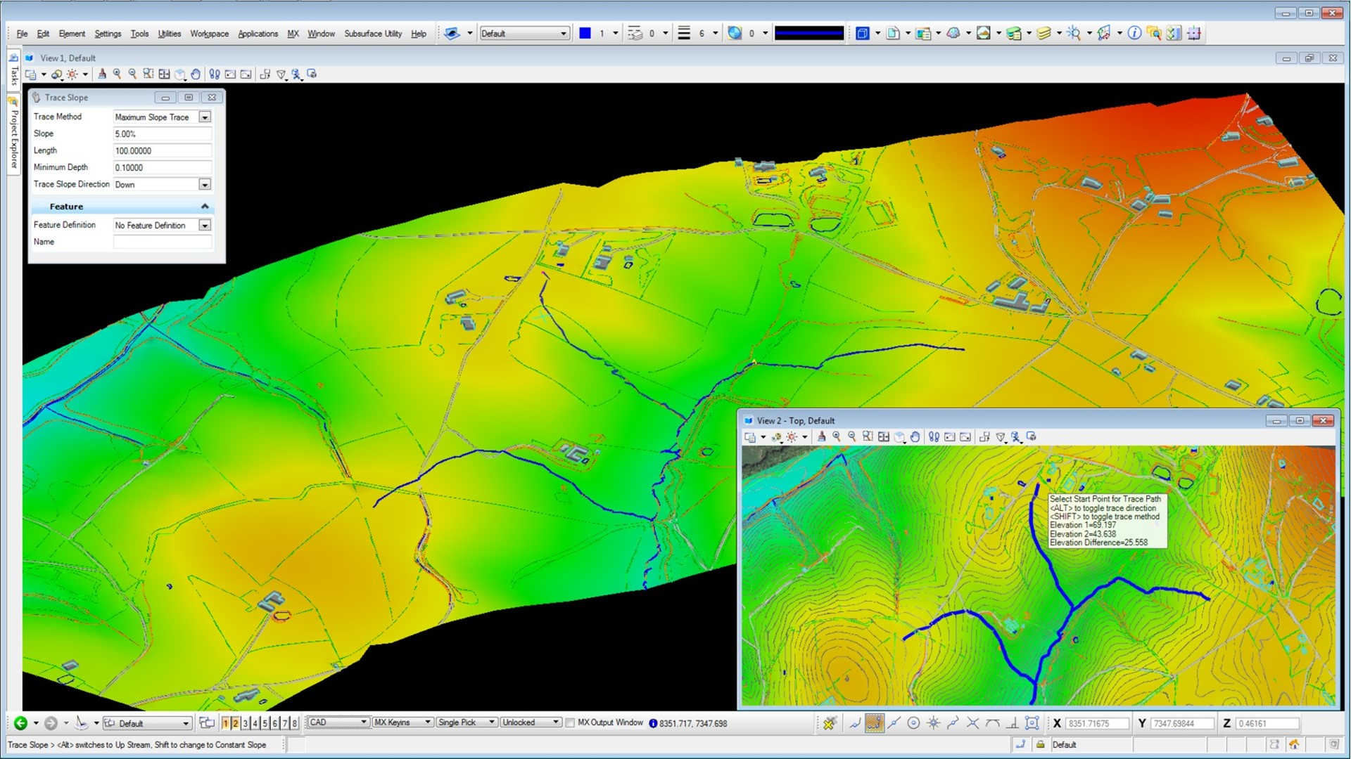 Model and analyze terrain