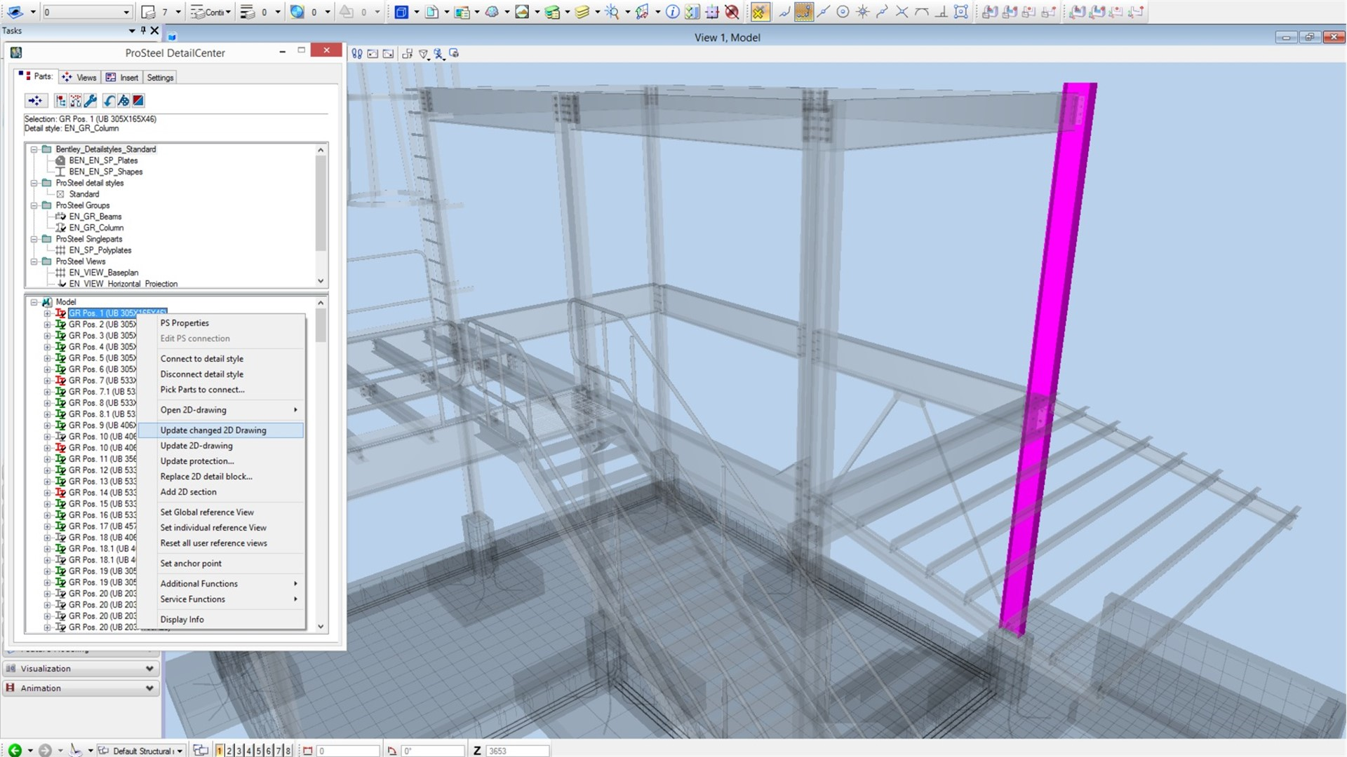 Steel detailing design and fabrication software prosteel for 3d construction design software