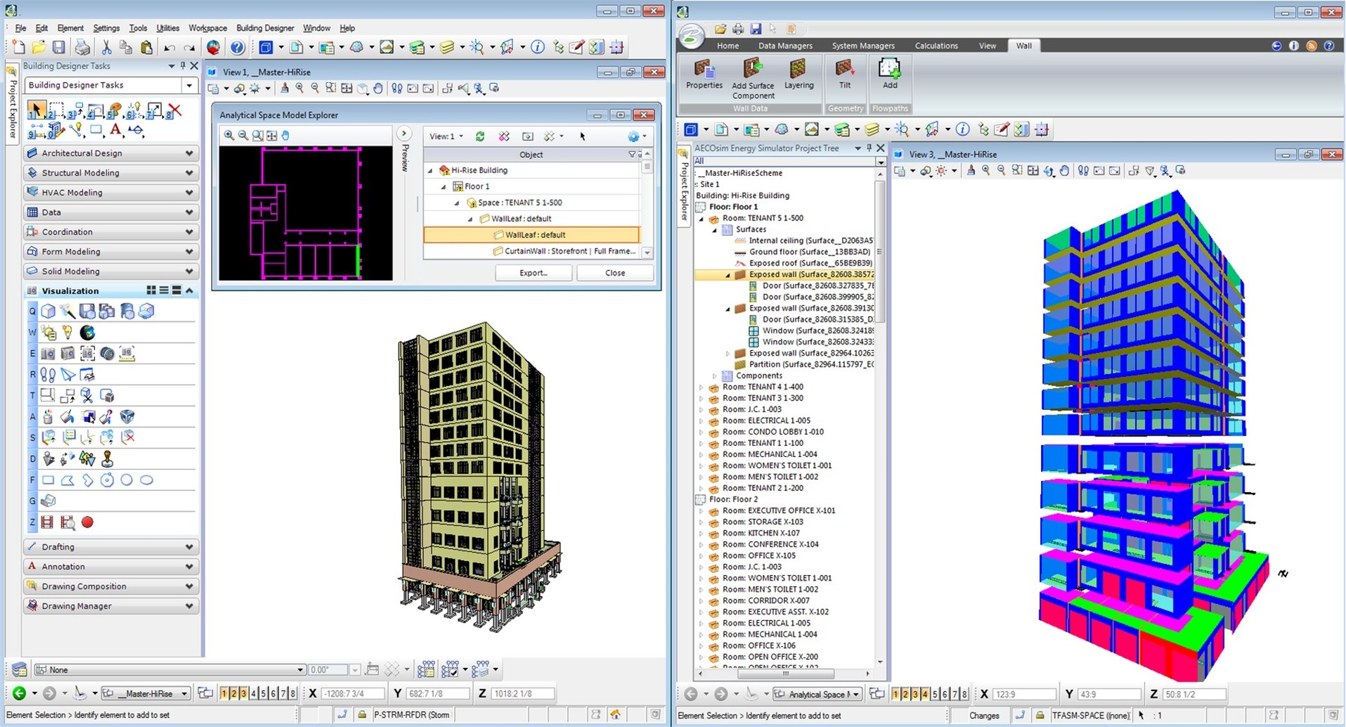 Utilize CAD and BIM data for simulations